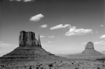 Monument Valley in Black-and-White