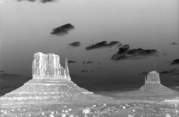 Monument Valley in Black-and-White (neg)