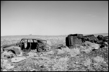 Cars near Meteor Crater