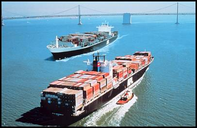 Container Ships from NOAA Image Library
