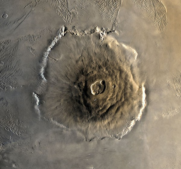 Olympus Mons (courtesy NASA via wikipedia)